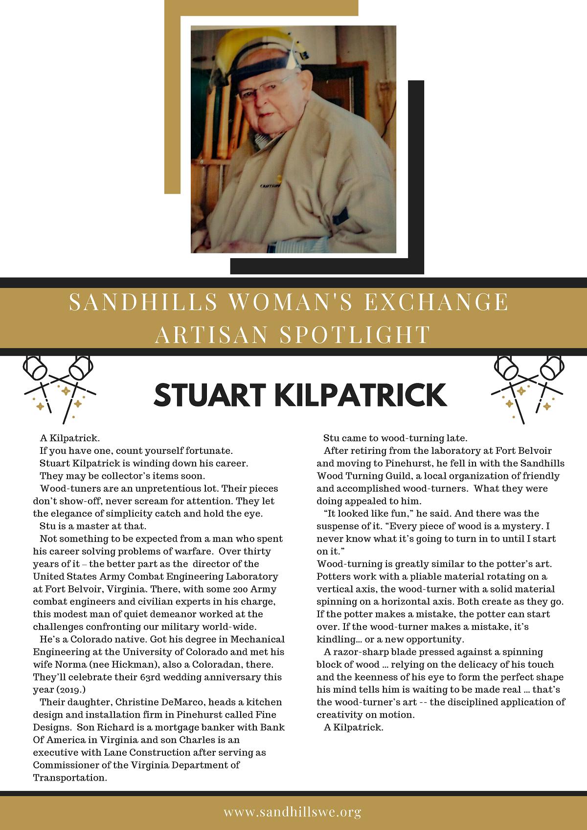 Sandhills Woman's Exchange Spotlight - Stuart Kilpatrick