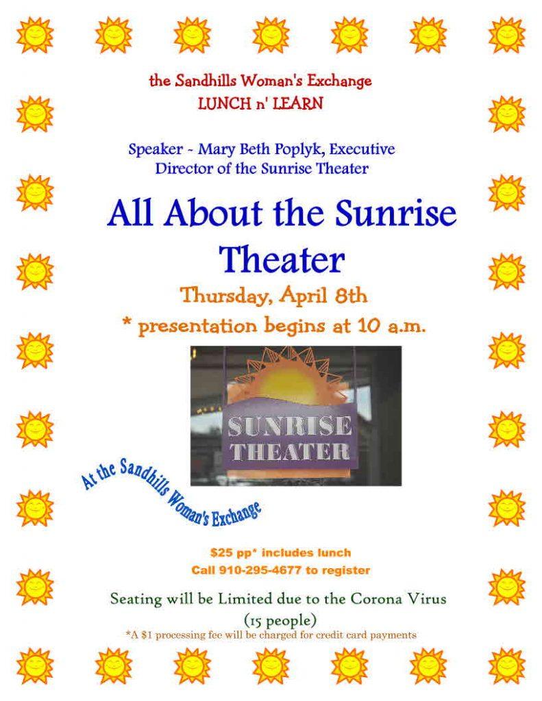 Sunrise Theater Lunch 'n Learn